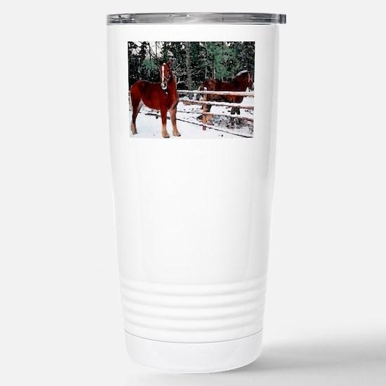 Horses Stainless Steel Travel Mug