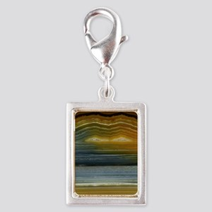 Agate-Mineral-iphone 4-slide Silver Portrait Charm