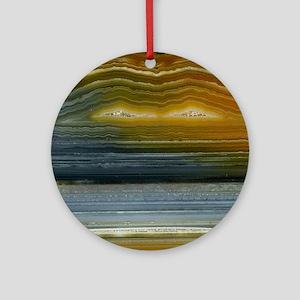 Agate-Mineral-iPad 2 Round Ornament