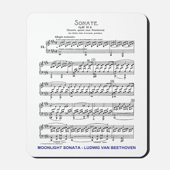 Moonlight-Sonata-Ludwig-Beethoven-iPad 2 Mousepad