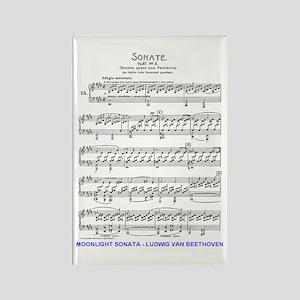 Moonlight-Sonata-Ludwig-Beethoven Rectangle Magnet