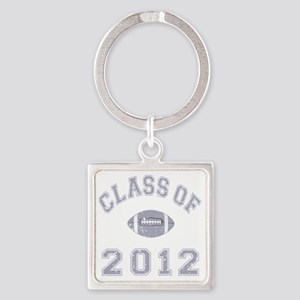 Class Of 2012 Football - Grey 2 D Square Keychain