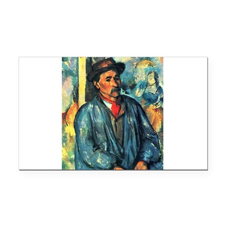 Man in a Blue Smock - Paul Cezanne - c1896 Rectang