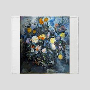 Flowers - Paul Cezanne - c1902 Throw Blanket