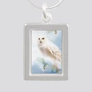 SnowyOwl Silver Portrait Necklace