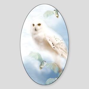 SnowyOwl Sticker (Oval)