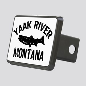 Trout Yaak River_BLACK Rectangular Hitch Cover