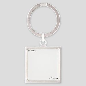 HTMLCute Square Keychain