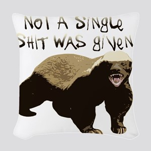 badger Woven Throw Pillow