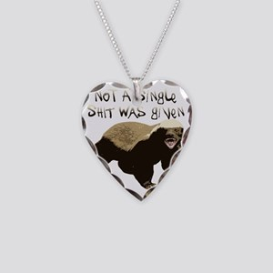 badger Necklace Heart Charm