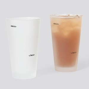 HTMLMess Drinking Glass