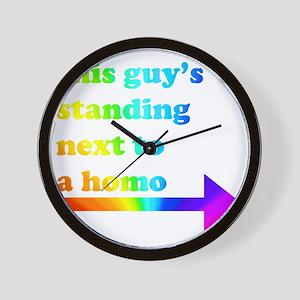 Standing Next To A Homo Wall Clock