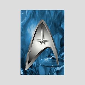 blue star trek case Rectangle Magnet