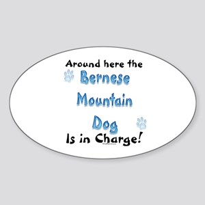 Bernese Charge Oval Sticker