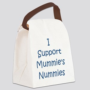 Blue I support mummies nummies Canvas Lunch Bag