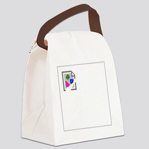 BrokenImagedark Canvas Lunch Bag