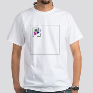 BrokenImagedark White T-Shirt