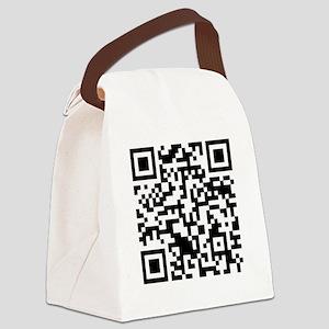 rickrollQR Canvas Lunch Bag