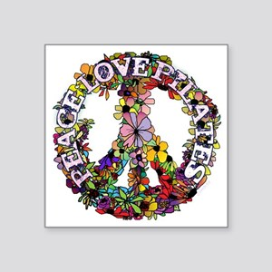"peace love pilates with flo Square Sticker 3"" x 3"""