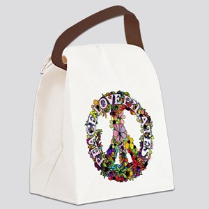 peace love pilates with flower pe Canvas Lunch Bag