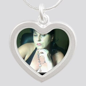 Do I look impressed - SPH Silver Heart Necklace