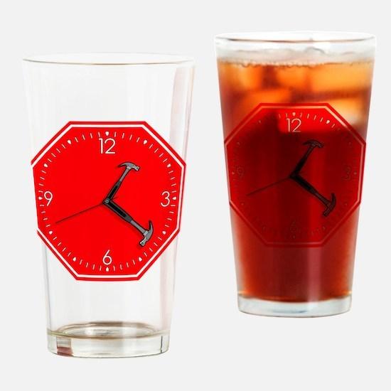 stophammertime Drinking Glass