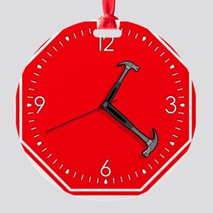 stophammertime Round Ornament