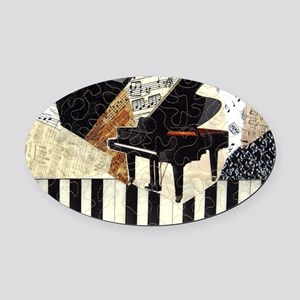 Piano-clutchbag Oval Car Magnet