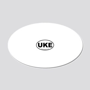 Ukulele Sticker 20x12 Oval Wall Decal