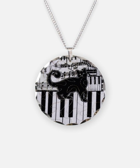 keyboard-cat-ornament Necklace