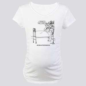 5016_biology_cartoon Maternity T-Shirt