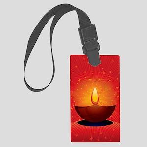 Diwali Festival of Lights Large Luggage Tag