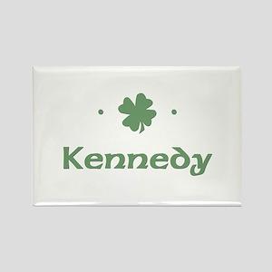 """Shamrock - Kennedy"" Rectangle Magnet"