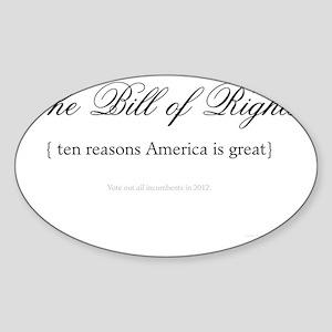 Bill-of-Rights Sticker (Oval)