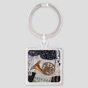 french-horn-ornament Square Keychain