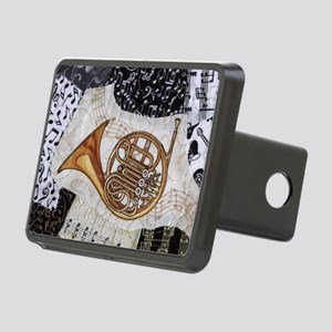 french-horn-ornament Rectangular Hitch Cover