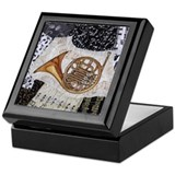 French horn Keepsake Boxes