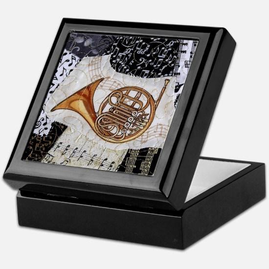 french-horn-ornament Keepsake Box