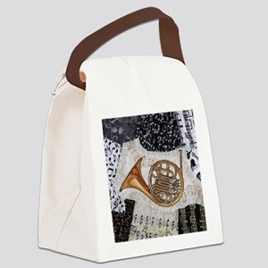 french-horn-ornament Canvas Lunch Bag
