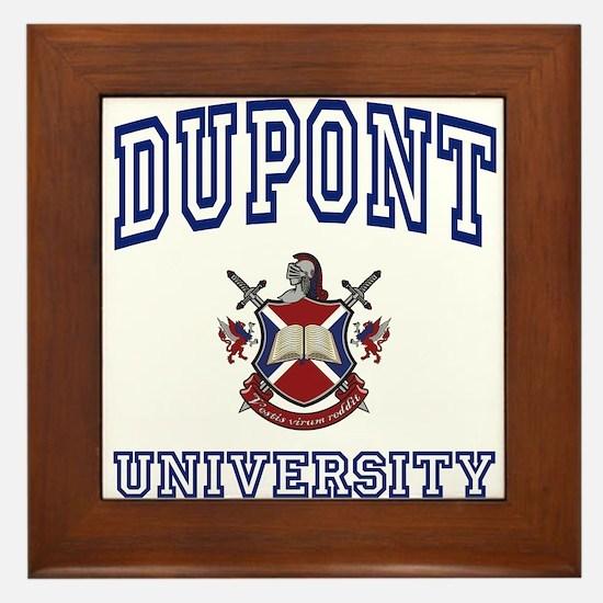 DUPONT University Framed Tile
