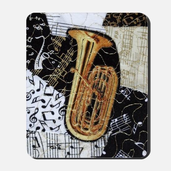 tuba-ornament Mousepad