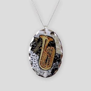 tuba-ornament Necklace Oval Charm