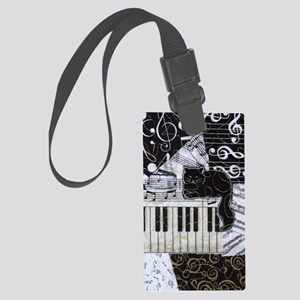 keyboard-sitting-cat-ornament Large Luggage Tag