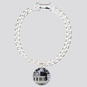 keyboard-sitting-cat-orn Charm Bracelet, One Charm