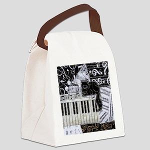 keyboard-sitting-cat-ornament Canvas Lunch Bag
