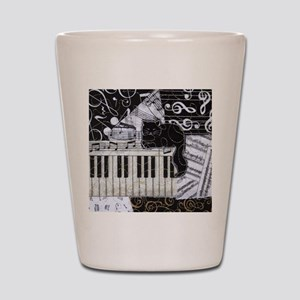 keyboard-sitting-cat-ornament Shot Glass