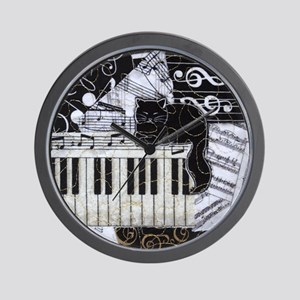 keyboard-sitting-cat-ornament Wall Clock