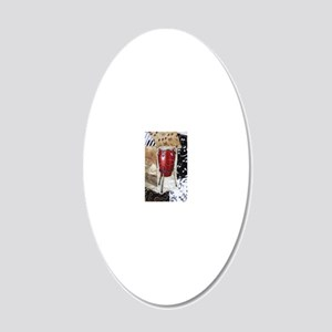 red-conga-drum-ornament 20x12 Oval Wall Decal