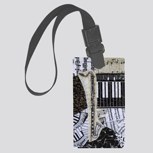 bass-clarinet-ornament Large Luggage Tag