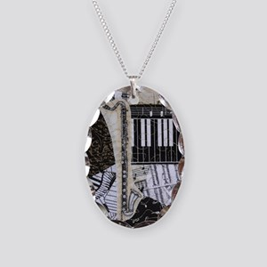 bass-clarinet-ornament Necklace Oval Charm